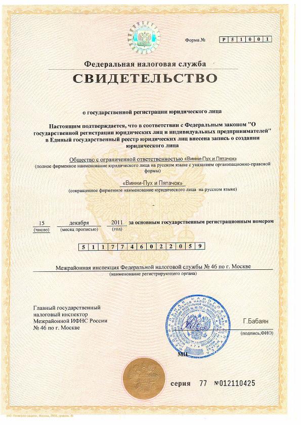 франшиза регистрация ооо ип